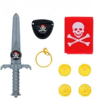 Pack Accesorios Pirata Daga Gris