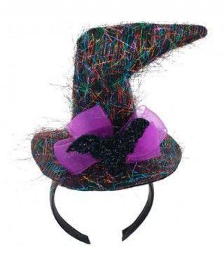 Diadema Sombrero Bruja Torcido