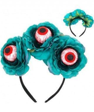 Diadema Rosas Azules Ojos