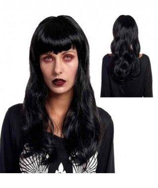 Peluca Halloween Sirena Negra