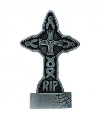 Lápida Decorativa Halloween Cruz Lazos