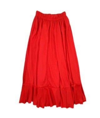 Falda Baile Flamenco Roja Infantil