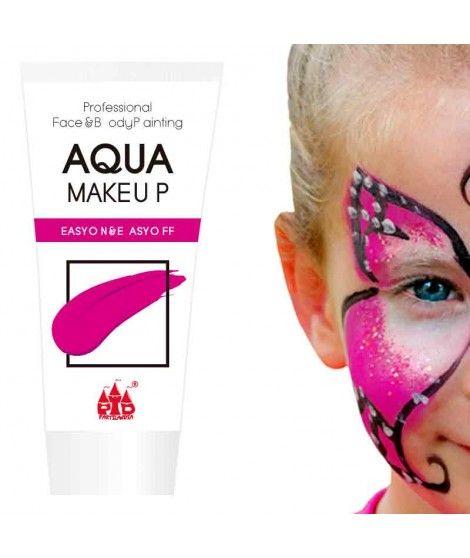 Maquillaje Fucsia al Agua