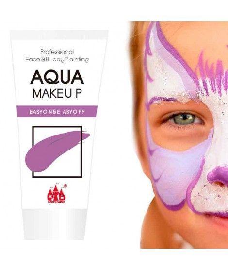 Maquillaje Morado al Agua