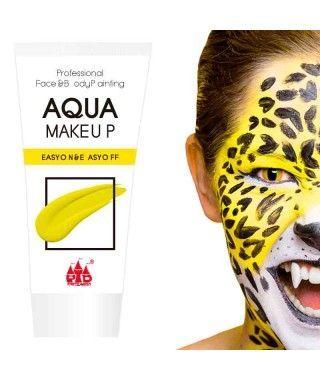 Maquillaje Amarillo al Agua