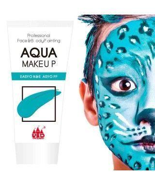 Maquillaje Azul al Agua