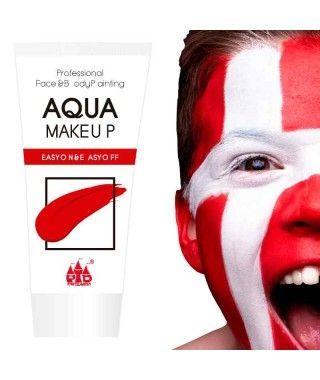 Maquillaje Rojo al Agua