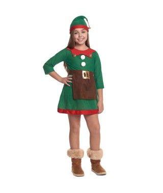 Disfraz de Elfa niña infantil para Navidad