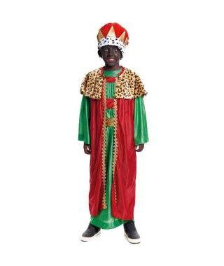 Disfraz Rey Mago Baltasar niño infantil para Navidad