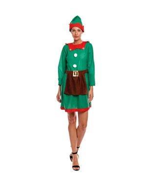 Disfraz Elfa mujer adulto para Navidad