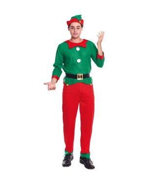 Disfraz Elfo Duende hombre adulto para Navidad