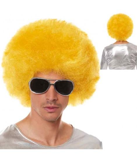 Peluca Afro Extragrande Amarilla...