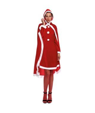 Capa Navidad Mamá Noel Adulto 140 cm