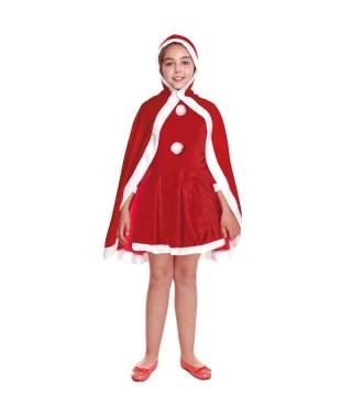 Capa Navidad Niña Adulto 90 cm