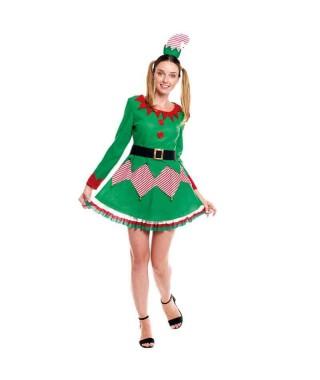 Disfraz Duende Navidad Caramelo Mujer