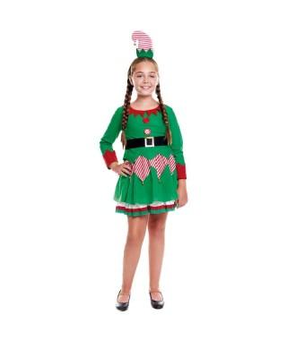 Disfraz Duende Navidad Caramelo Niña