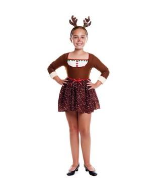 Disfraz Reno Chic Niña Navidad