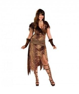 Disfraz de Cavernícola mujer adulto para Carnaval