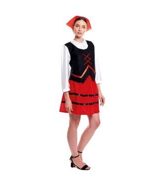 Disfraz Pastora Clásica Navidad Mujer