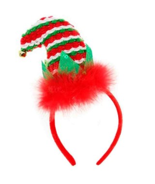 Diadema Gorro Navidad Papá Noel Tricot Acebo