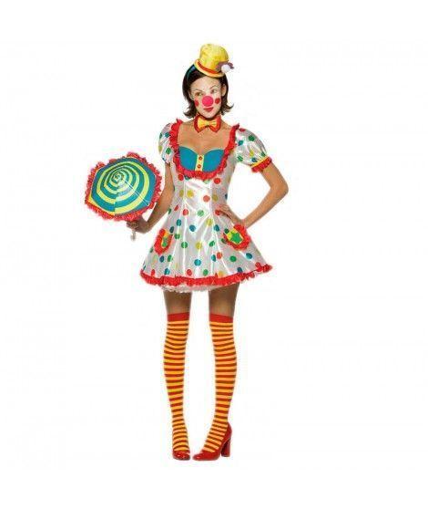 Disfraz Payasa Lunares mujer adulto Carnaval