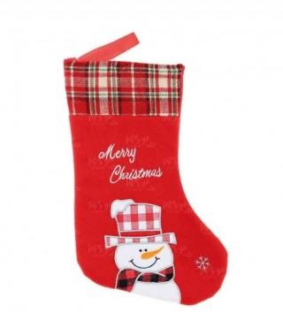 Calcetín Navidad Muñeco Nieve Bordado