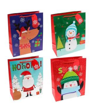 Bolsa Regalo Navidad Xmas Muñecos (12 uds)