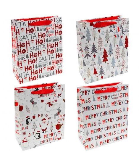 Bolsa Regalo Navidad Xmas Drawing Rojo (12 uds)