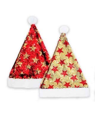 Gorro Papá Noel Bling Bling Oro Rojo