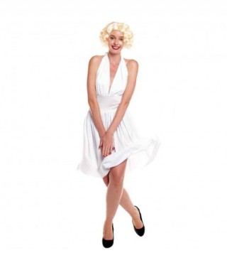 Disfraz Marilyn Vestido Blanco Mujer