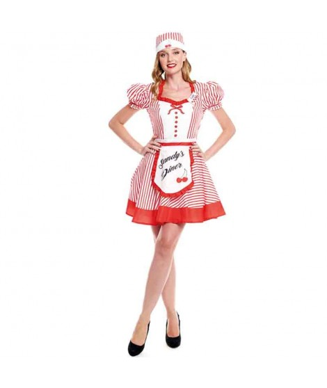 Disfraz Camarera Vintage Diner Mujer