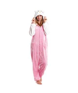 Disfraz Pijama Gato Rosa Adulto