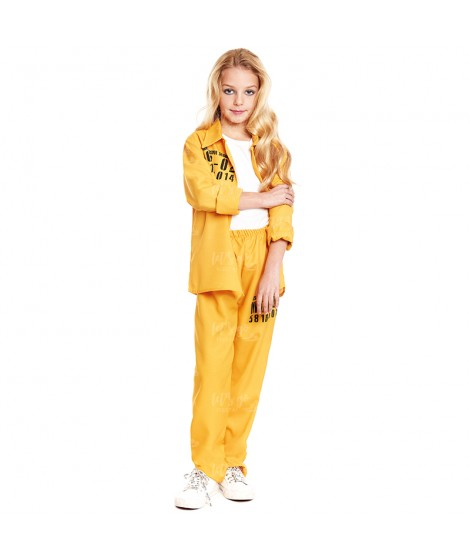 Disfraz Presidiaria Uniforme Amarillo Niña