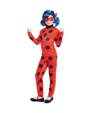 Disfraz Heroína Super Bug Mariquita niña infantil para Carnaval