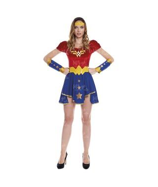 Disfraz Heroína Wonder Girl Mujer