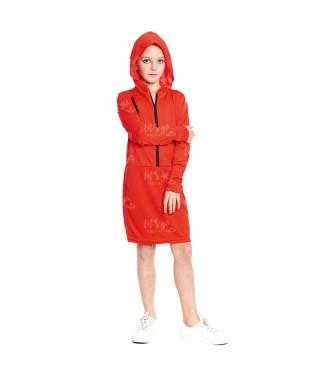 Disfraz Atracadora Roja Niña