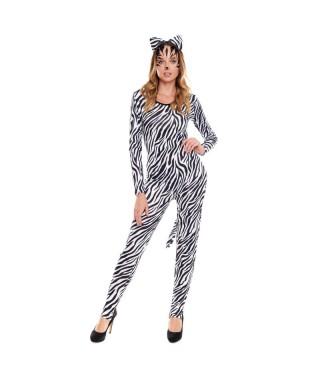 Disfraz Cebra Sexy Mujer Mono Maillot
