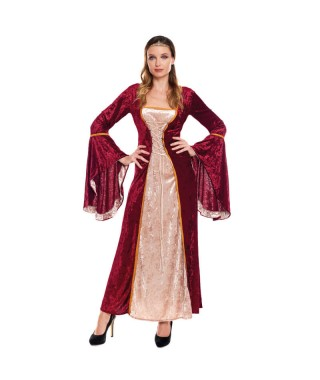 Disfraz Reina Medieval Escarlata Mujer
