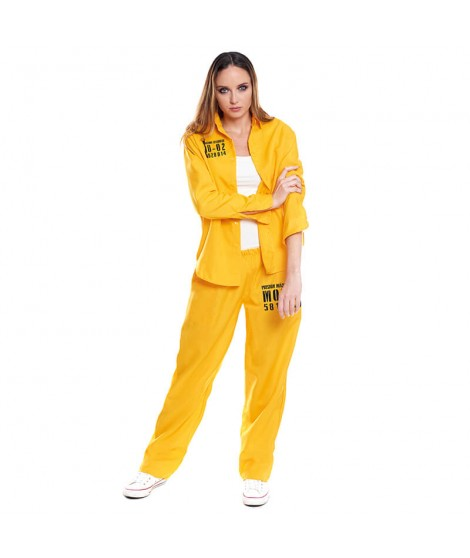 Disfraz Presidiaria Uniforme Amarillo Mujer