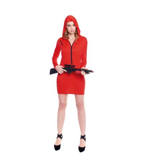 Disfraz Atracadora Roja Mujer