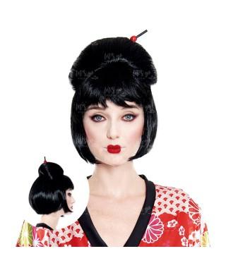 Peluca de Geisha japonesa