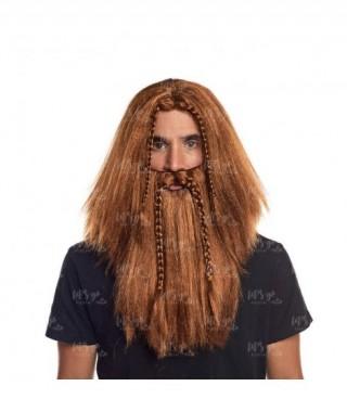 Peluca con Barba Vikinga