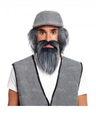 Barba Gris Accesorio Disfraz