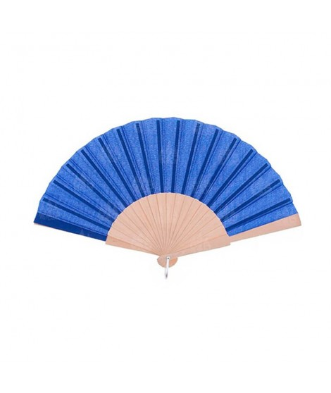 Abanico Azul Marino Madera