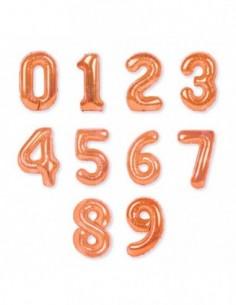 Globos Números Color Champán