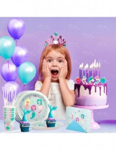 Kit Cumpleaños Infantil Sirenas