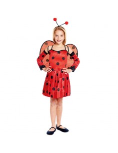 Disfraz de Mariquita Ladybug niña infantil para Carnaval