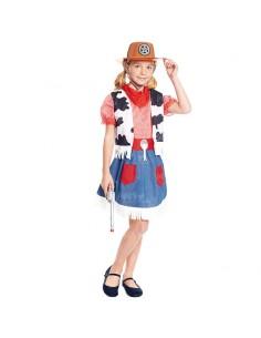 Disfraz Vaquera del Oeste niña infantil para Carnaval