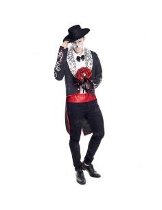 Disfraz Novio Esqueleto Catrín Día de la Muerte hombre adulto para Halloween