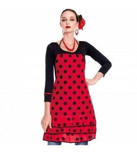Delantal Flamenca Lunares Roja
